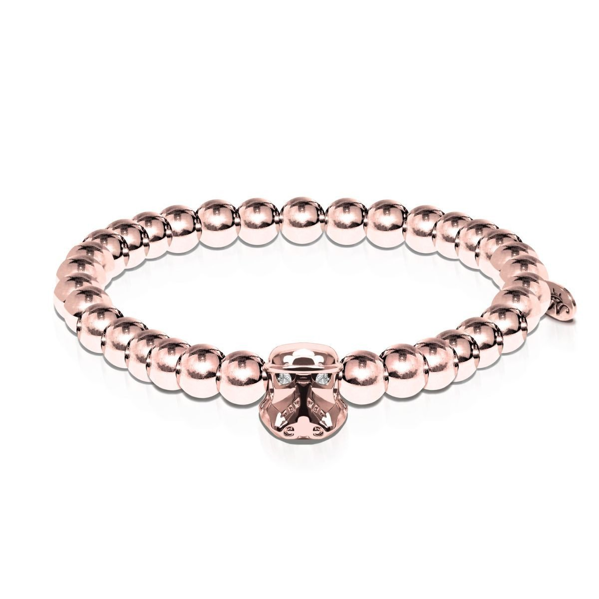 Men's | Trooper | 18k Rose Gold | Crystal Charm Bracelet