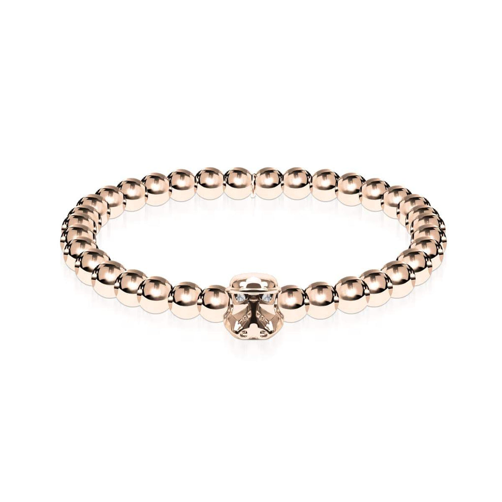 Trooper | 18k Rose Gold | Crystal Charm Bracelet