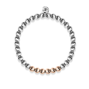 Wonder | Silver | 18k Rose Gold | Expression Bracelet