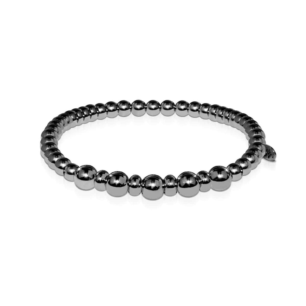 Men's | Balanced | Gunmetal | Bead Bracelet