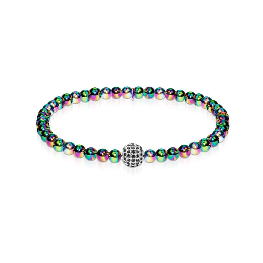 Charismatic | Unicorn Steel | Black Cubic Zirconia Crystals | Expression Bracelet