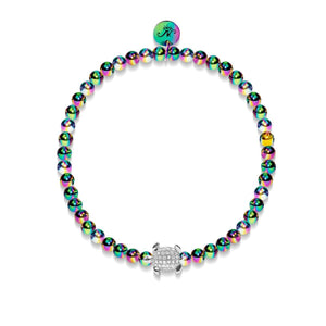 Tortuga | Unicorn Steel | Crystal Sea Turtle Bracelet