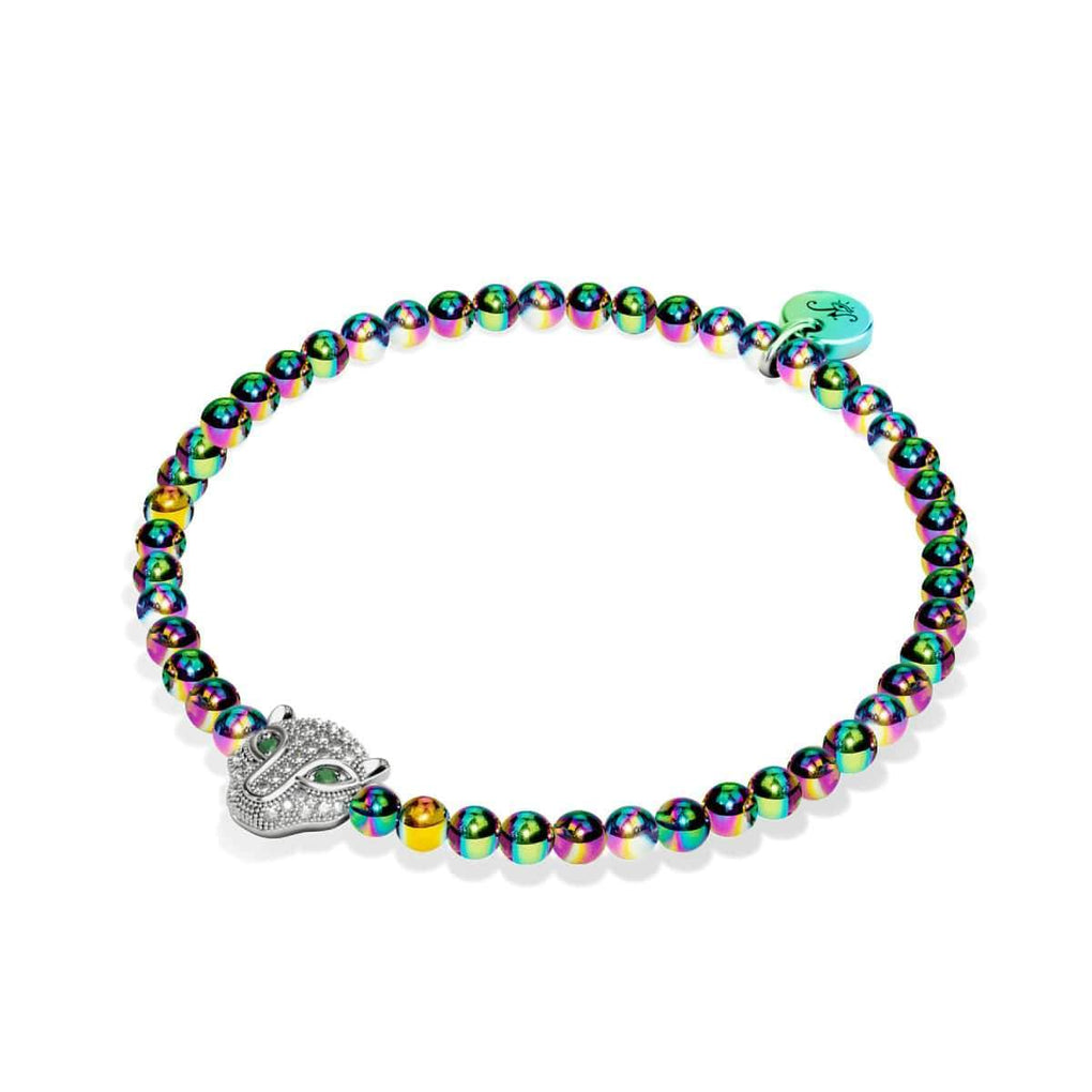 Fierce | Unicorn Silver | Crystal Cat Bracelet