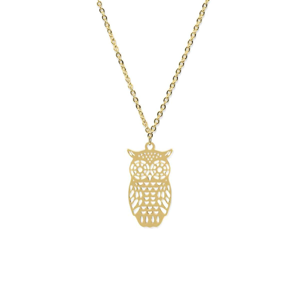 Owl | 18k Gold | Charm Necklace