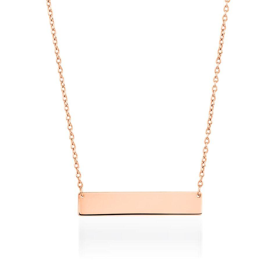 Minimalist Bar | 18k Rose Gold | Necklace