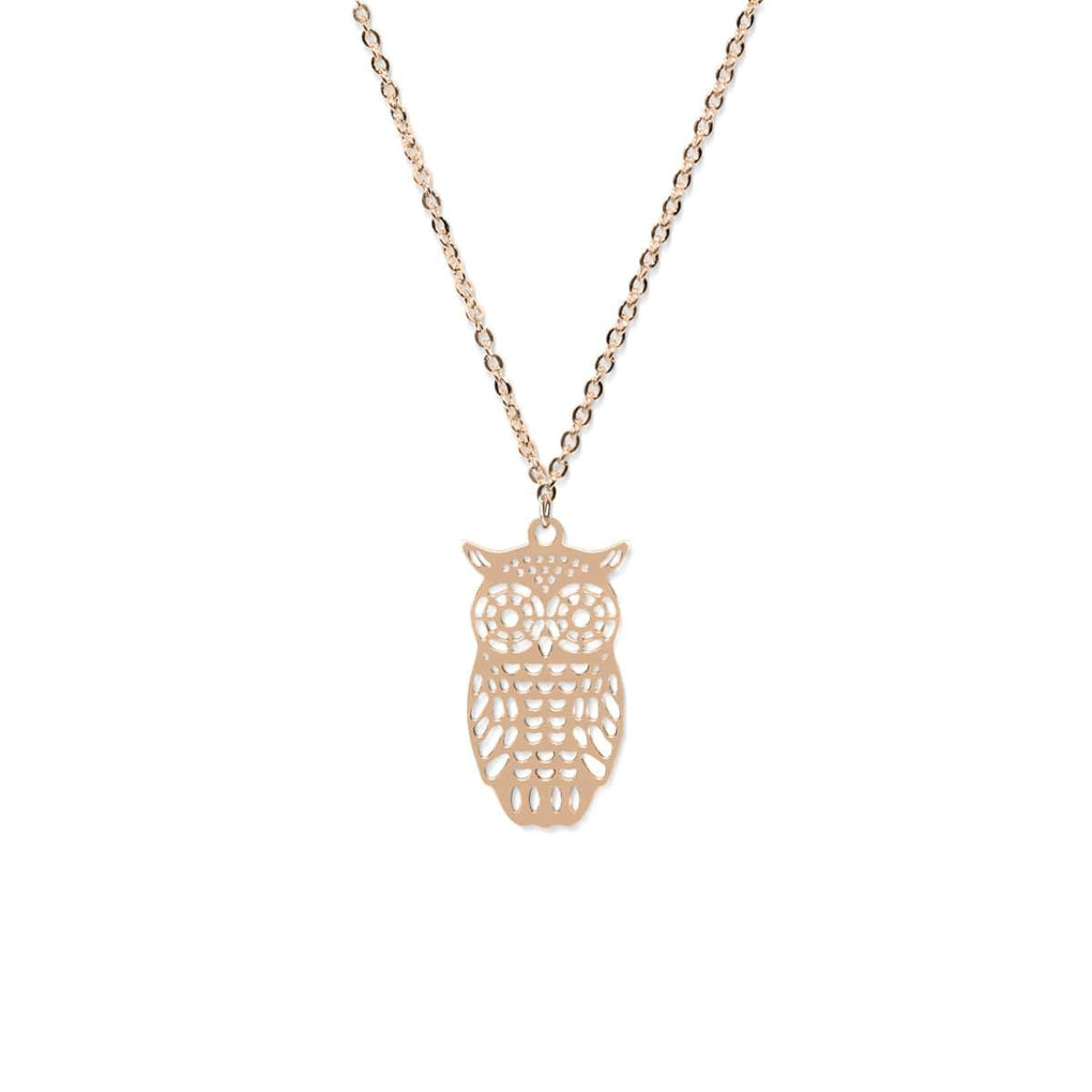 Owl | 18k Rose Gold | Charm Necklace