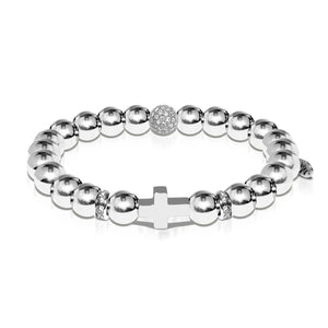 St. Anthony | White Gold | Cross Bracelet