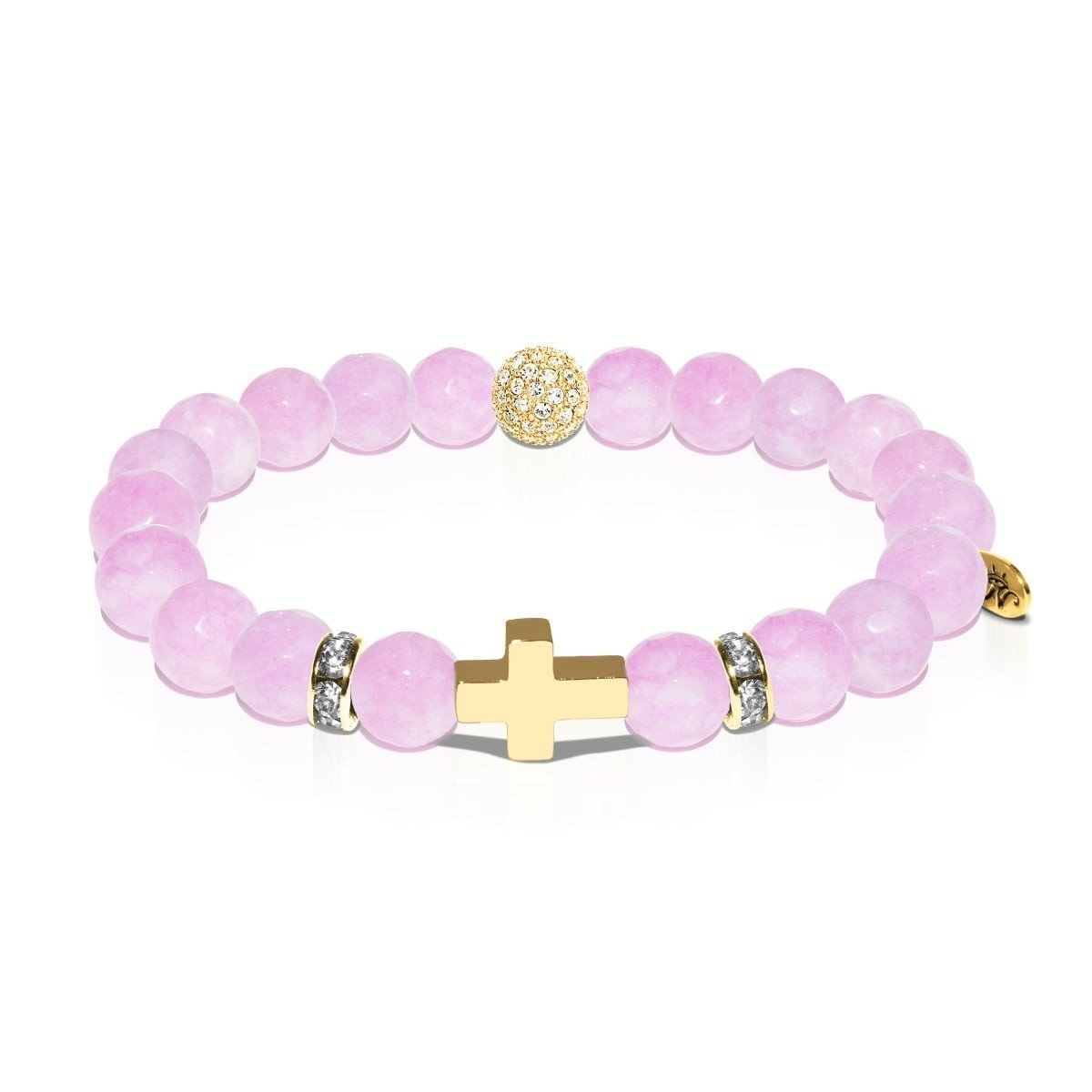 St. Augustine of Hippo | Gold Cross | Purple Jade Bracelet