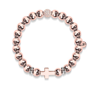 St. Gregory | 18k Rose Gold | Cross Bracelet