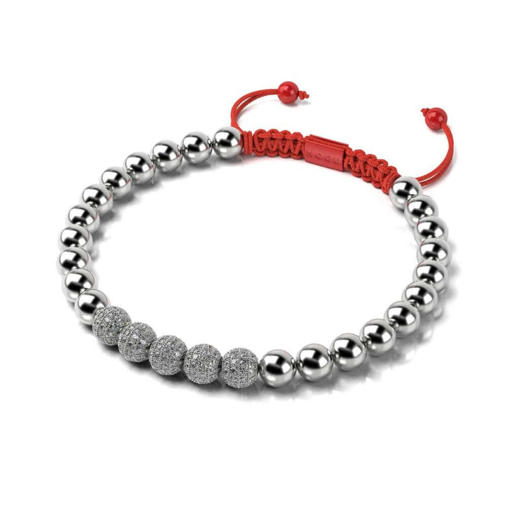 Silver and Red Enamel | Crystal Gala | Fashion Santa Bracelet | Red