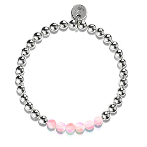 Pink | Silver | Mermaid Glass Expression Bracelet