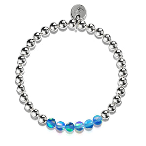 Sapphire | Silver | Mermaid Glass Expression Bracelet