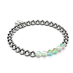 Emerald | Silver | Mermaid Glass Expression Bracelet