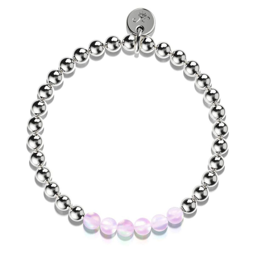 Violet | Silver | Mermaid Glass Expression Bracelet
