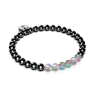 Grey | Gunmetal | Mermaid Glass Expression Bracelet