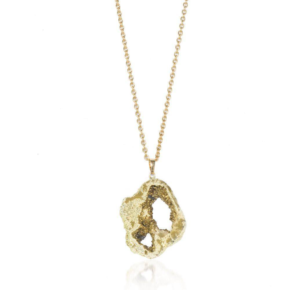 Golden Dreams Crystal Druzy Necklace