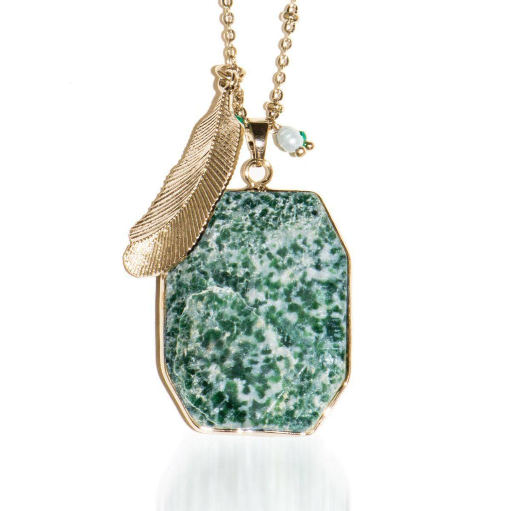 Wildest Dreams | Mossy Jade Pendant Necklace