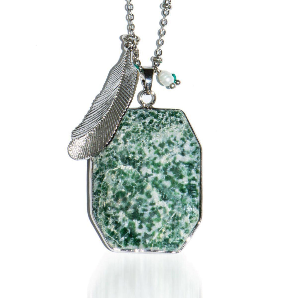 Ivy League | Mossy Jade Pendant Necklace