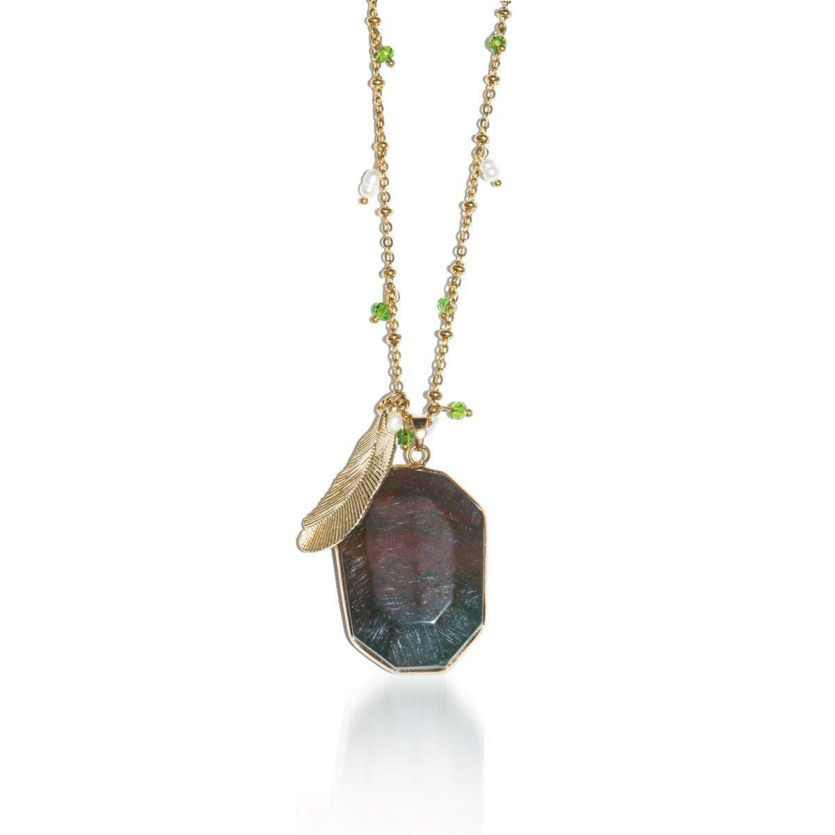 Philosopher Stone | African Agate Pendant Necklace
