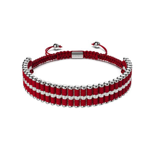 Amici | Silver | Red | Friendship Bracelet