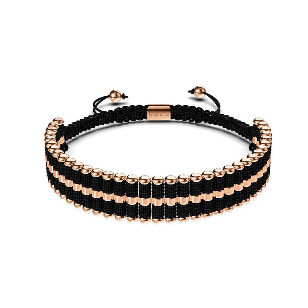 Amici | 18k Rose Gold | Black | Friendship Bracelet