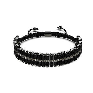 Amici | Gunmetal | Black | Friendship Bracelet