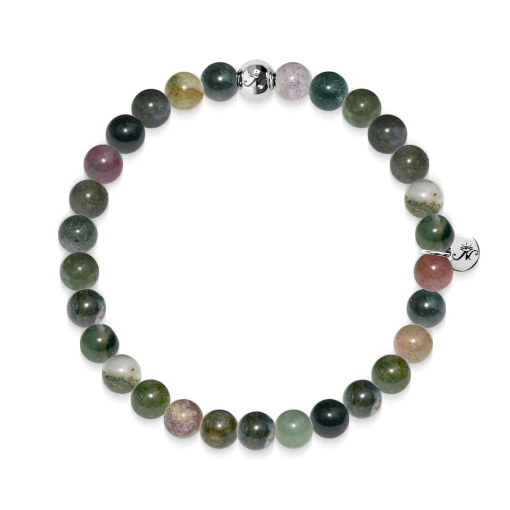 Meditation | Silver Essence Indian Agate Bracelet