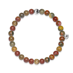 Determination | Silver Essence Red Picasso Jasper Bracelet