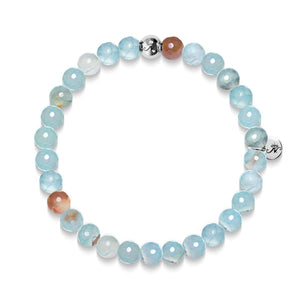 Trust | Silver Essence Blue Dragon Grain Agate Bracelet
