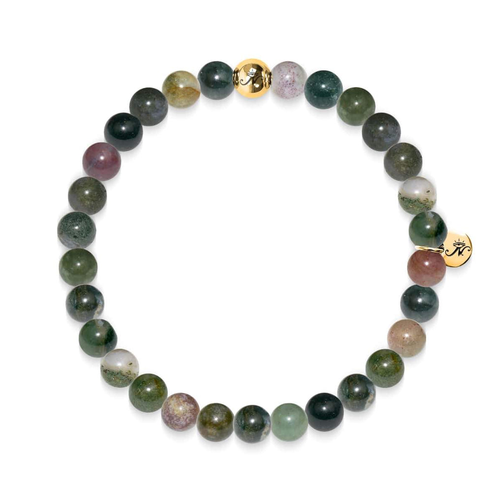 Meditation | Gold Essence Indian Agate Bracelet