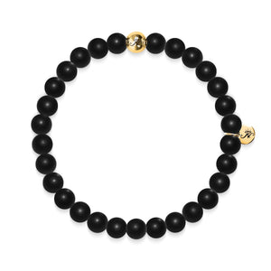 Growth | Gold Essence Matte Black Bracelet