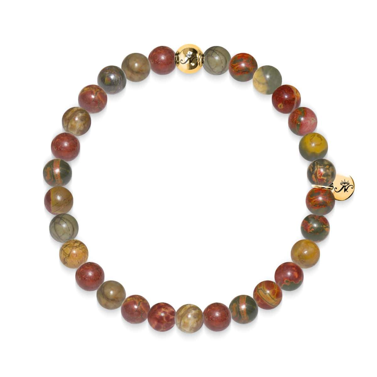 Determination | Gold Essence Red Picasso Jasper Bracelet