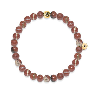 Focus | Gold Essence Red Veined Stone Bracelet