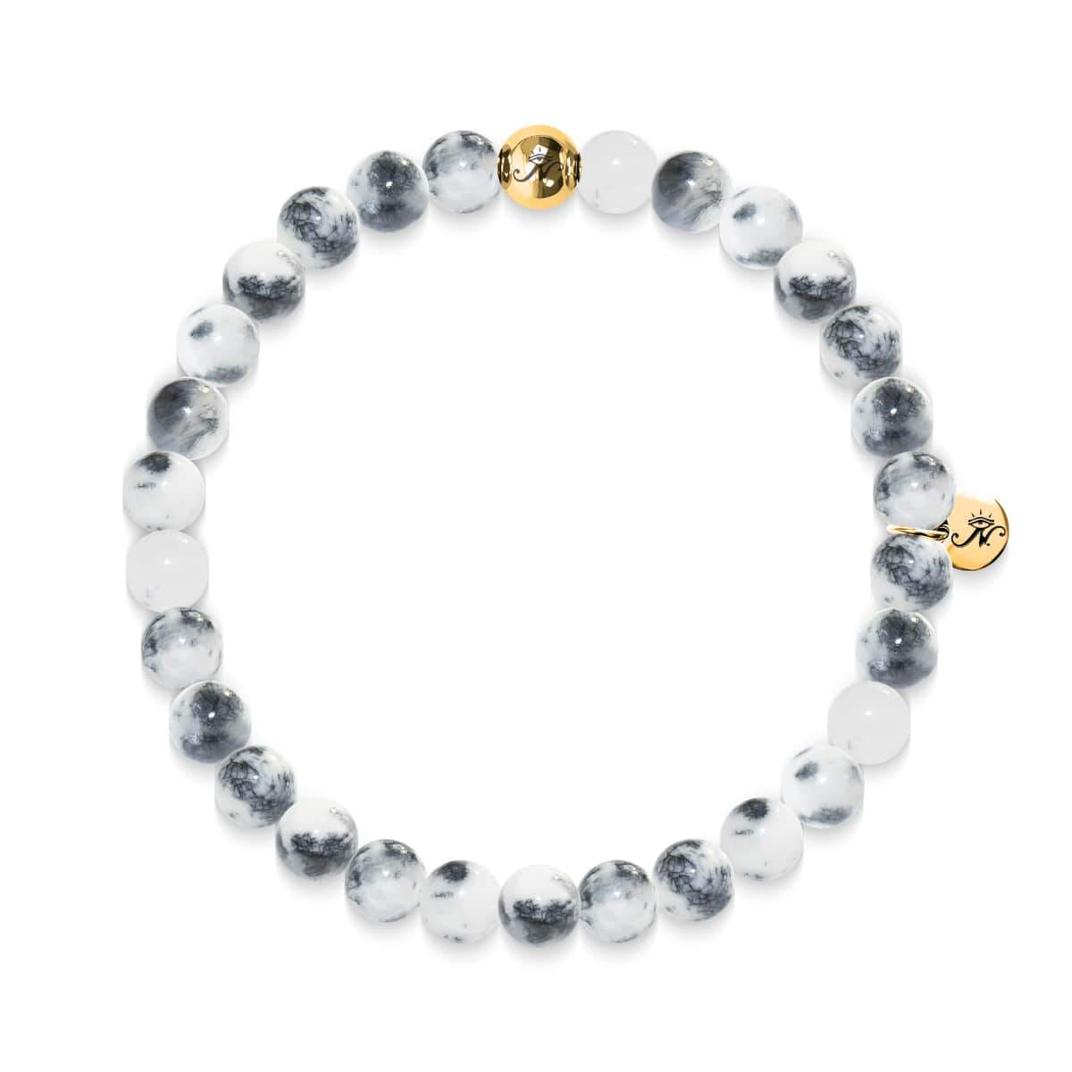 Compassion | Gold Essence White Jade Bracelet