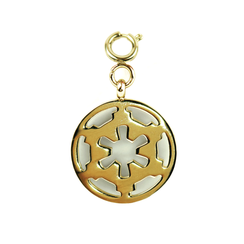 Galactic Empire - Gold Star Wars Bracelet Charm Tag