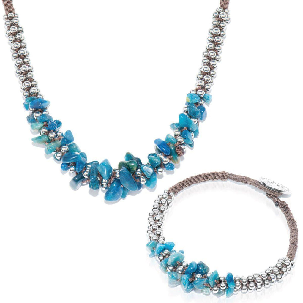 Blue Agate Terra Bella Gift Set - Bracelet & Necklace