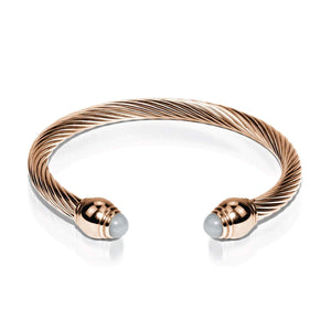 Venus | 18k Rose Gold | Aquamarine | Goddess Bangle