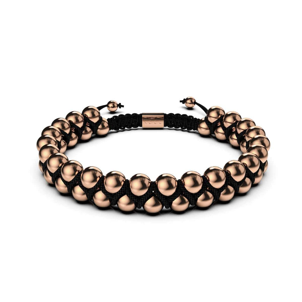 Men's | 18k Rose Gold | Black | Vitality Bracelet