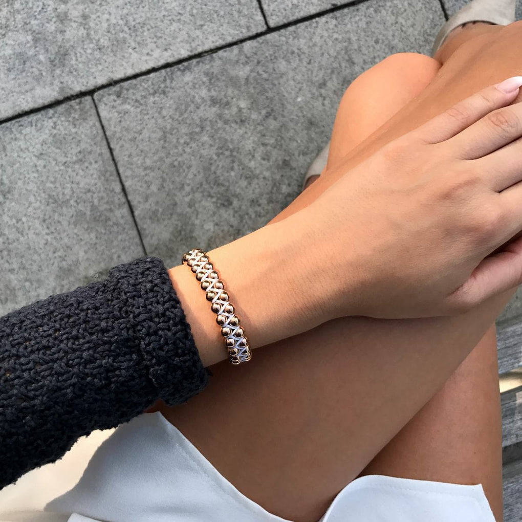 Rose Gold | White | Vitality Bracelet