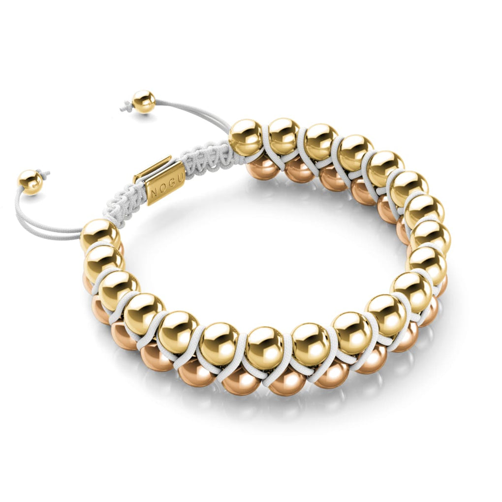 Two Tone Gold | White | Vitality Bracelet | Men's