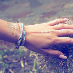 Summer Skies | Leather Wrap | Stone Lotus