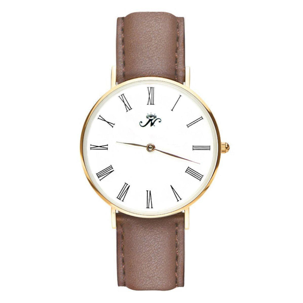 Sherbourne - Gold Timepiece with Brown Leather