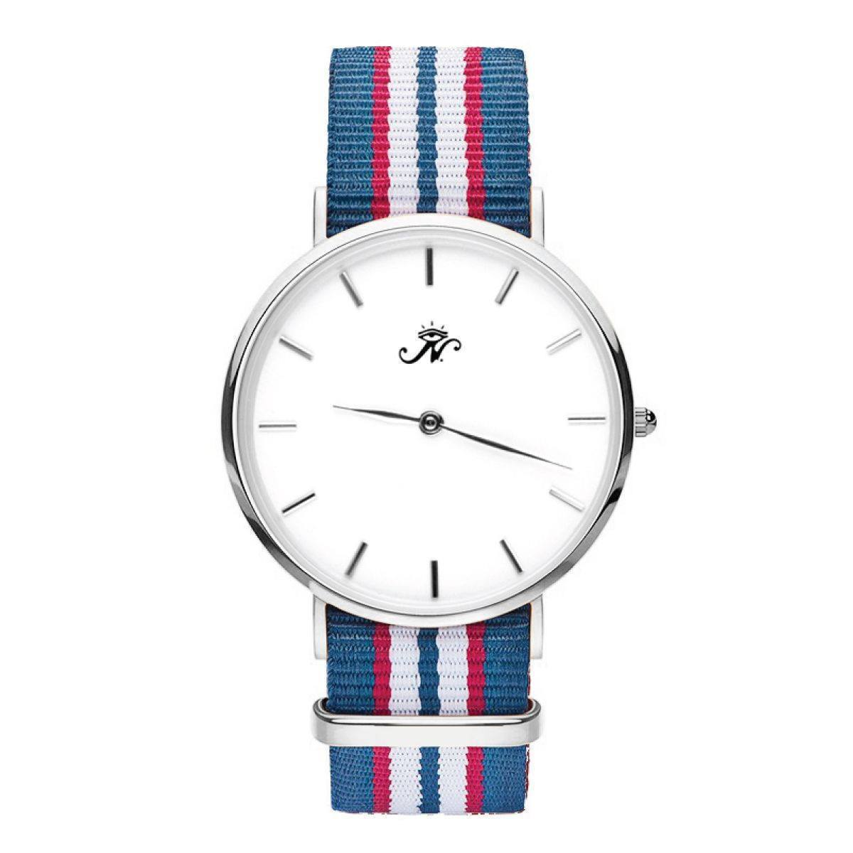 Runnymede - Silver Timepiece with NATO Strap