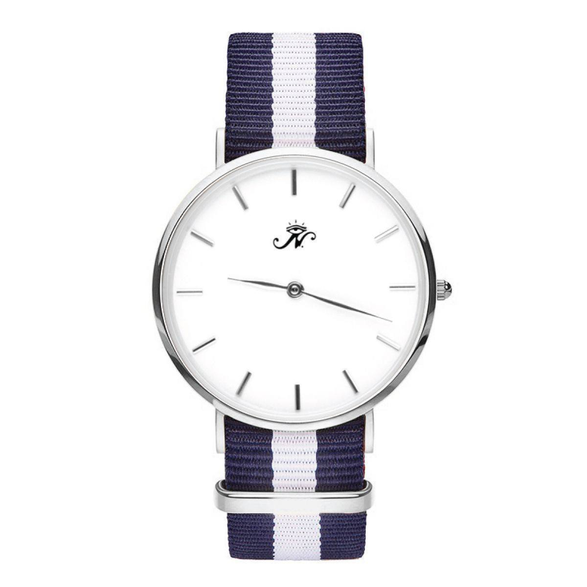 Warden - Silver Timepiece with NATO Strap