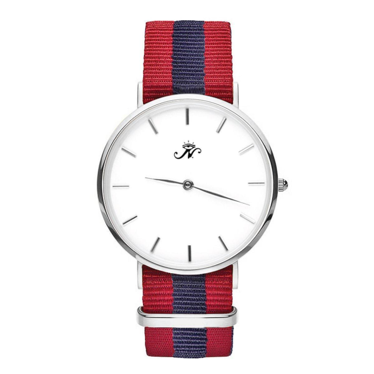 Finch - Silver Timepiece with NATO Strap