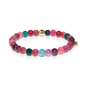 Joy | Gold Essence Multi-Colored Agate Bracelet