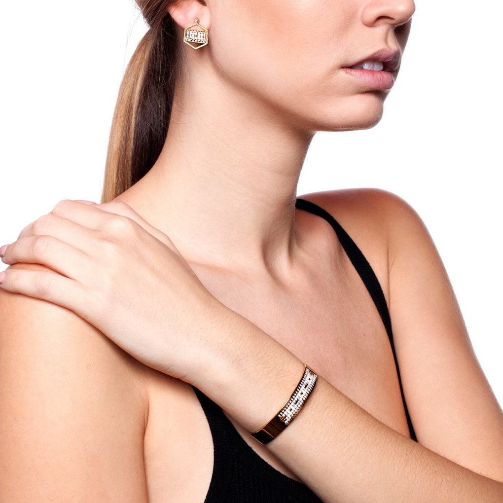 Monterey | 18k Gold | Boho Bangle Earring Set