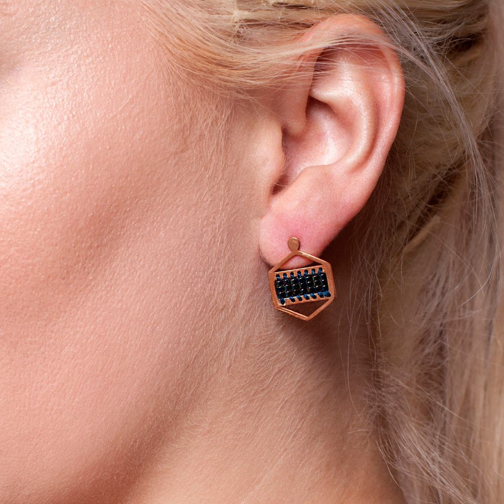Manhattan Beach | 18k Rose Gold | Boho Earrings