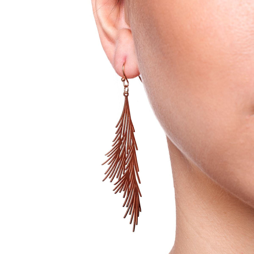 Palm Leaf | 18k Rose Gold | Gilded Earrings