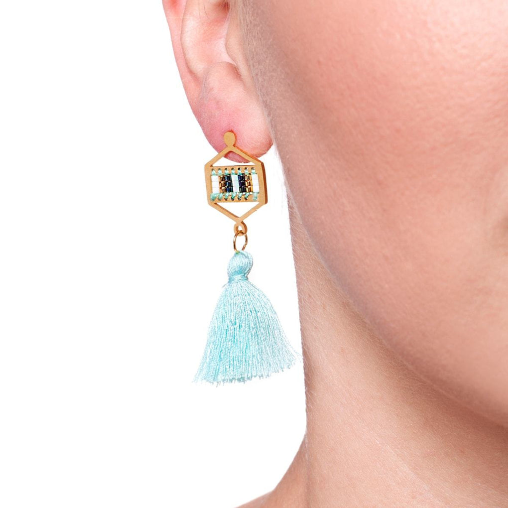 Hidden Hills | 18k Gold | Boho Fringe Earrings